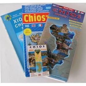 Des cartes routières et touristiques de Chios
