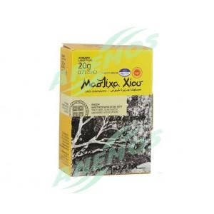 """Mastic naturel de Chios. Boîte de 20g """"larmes moyennes"""""""