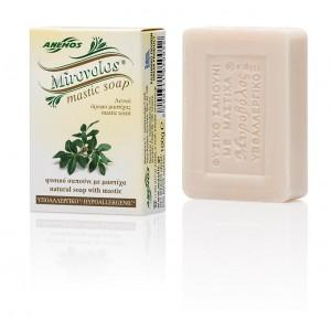 Σαπούνι με μαστίχα Λευκό ''Μυροβόλος''