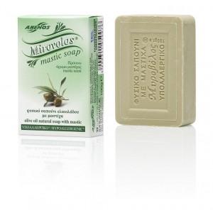 """Σαπούνι με ελαιόλαδο & μαστίχα. Πράσινο """"Μυροβόλος"""""""