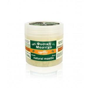 Natural chios gum mastiha. Packing in jars by ANEMOS
